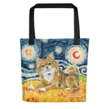 Chihuahua (longhaired) STARRY NIGHT Tote
