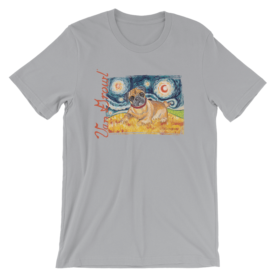 Pug (fawn) STARRY NIGHT T-Shirt