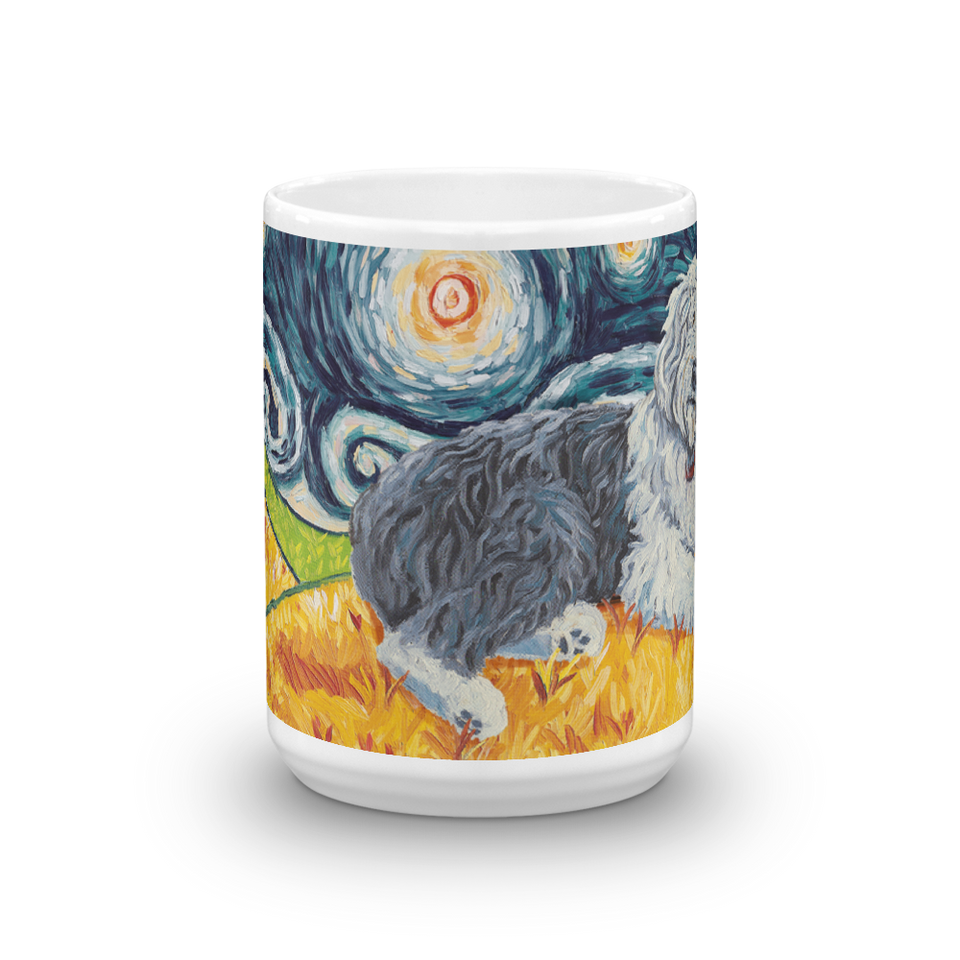 Old English Sheepdog STARRY NIGHT Mug-15oz