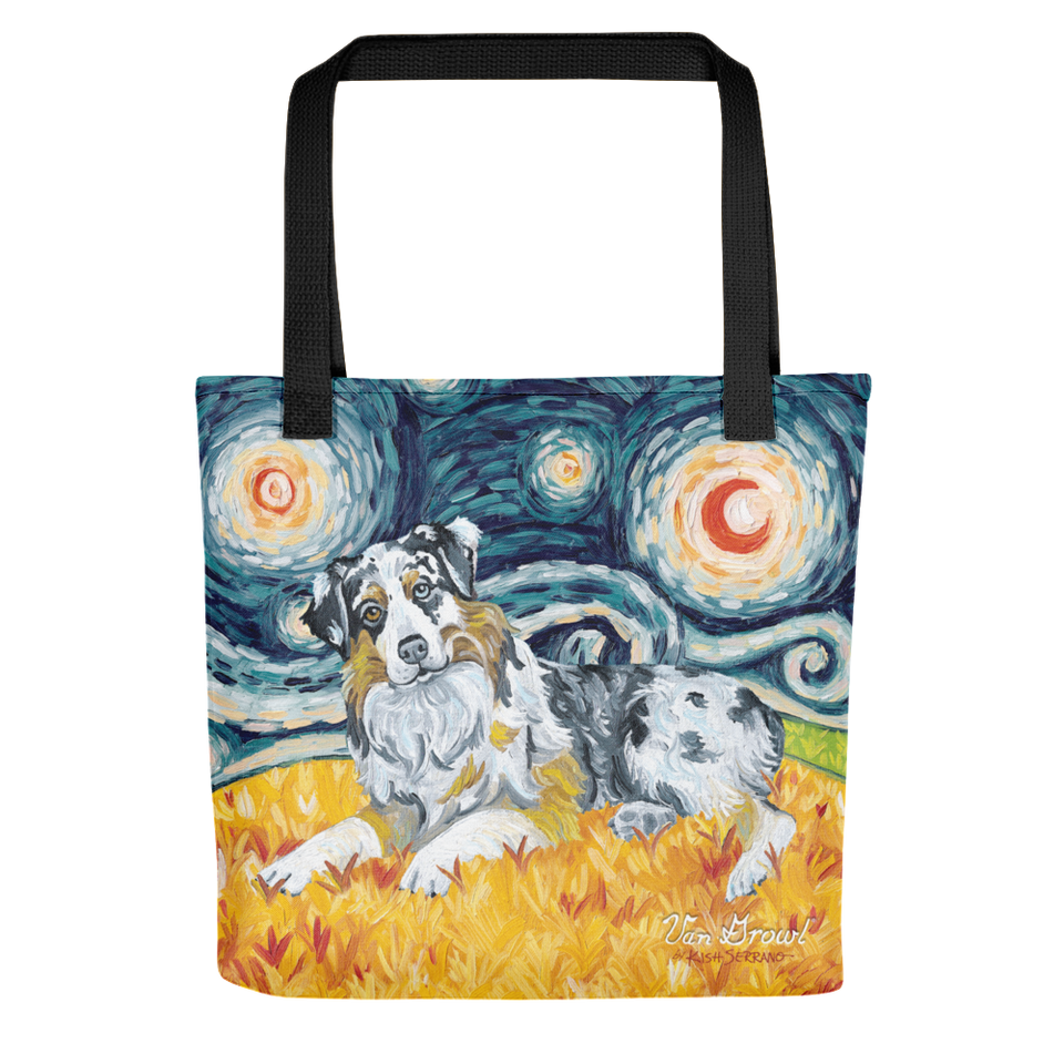 Australian Shepherd STARRY NIGHT Tote