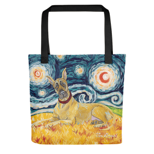 Great Dane (cropped) STARRY NIGHT Tote
