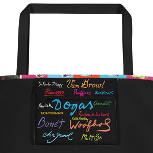 """The Art of Being a Dog"" Beach Bag with Pocket"