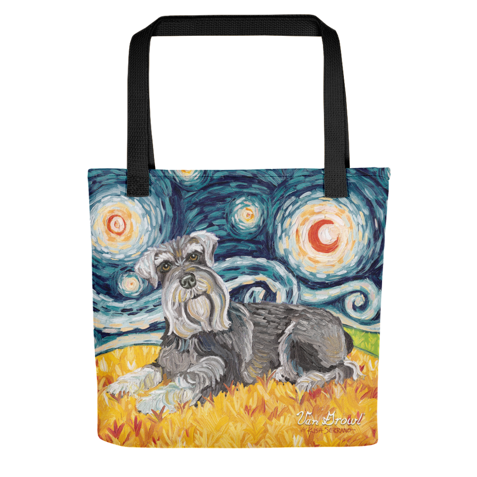 Schnauzer STARRY NIGHT Tote
