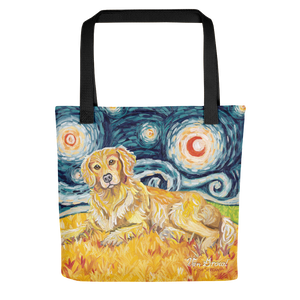 Golden Retriever STARRY NIGHT Tote