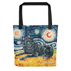 Schipperke (tail) STARRY NIGHT Tote
