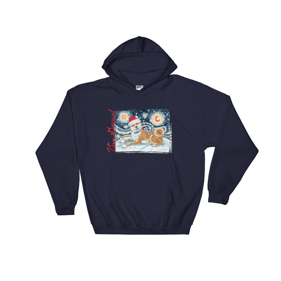 Shibalnu (Red) Snowy Night Hoodie