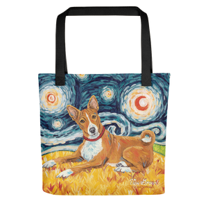 Basenji STARRY NIGHT Tote