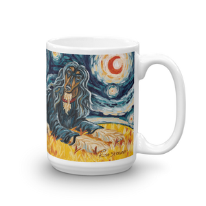 Afghan Hound (black & tan) STARRY NIGHT Mug -15oz