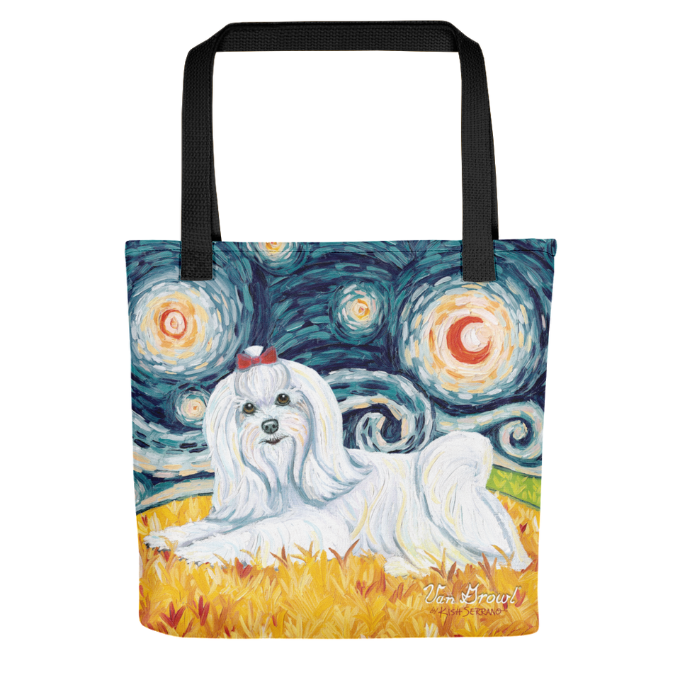 Maltese (longhaired) STARRY NIGHT Tote
