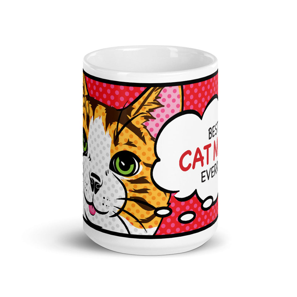 Cat, Coffee Mug, Cat Lover Gift, Personalized Mug, Best Cat Mom, Personalized Gift, Pop Art Mug