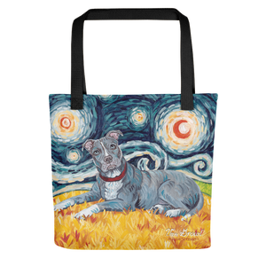Pit Bull Terrier (grey) STARRY NIGHT Tote