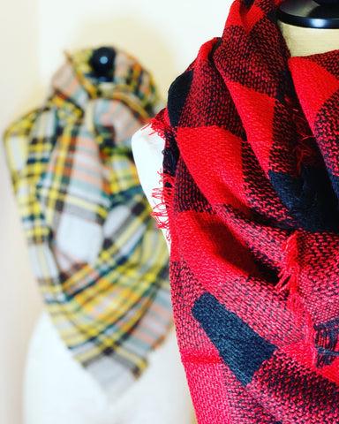 New England Style Blanket Scarves