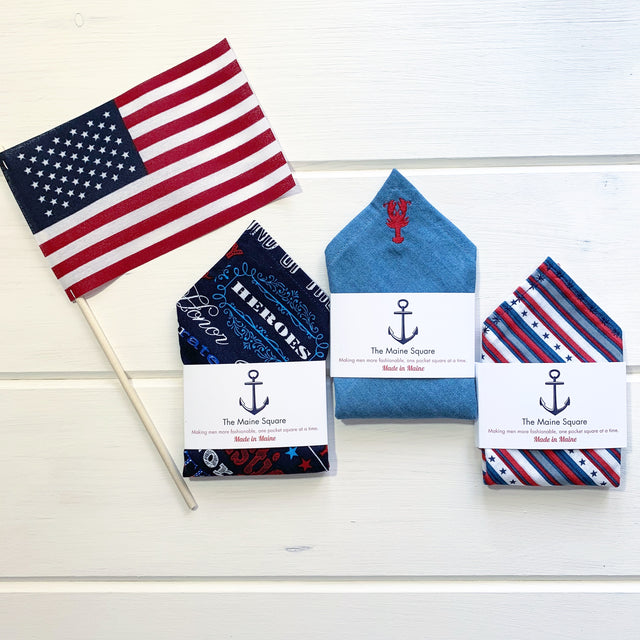 made in the USA pocket squares