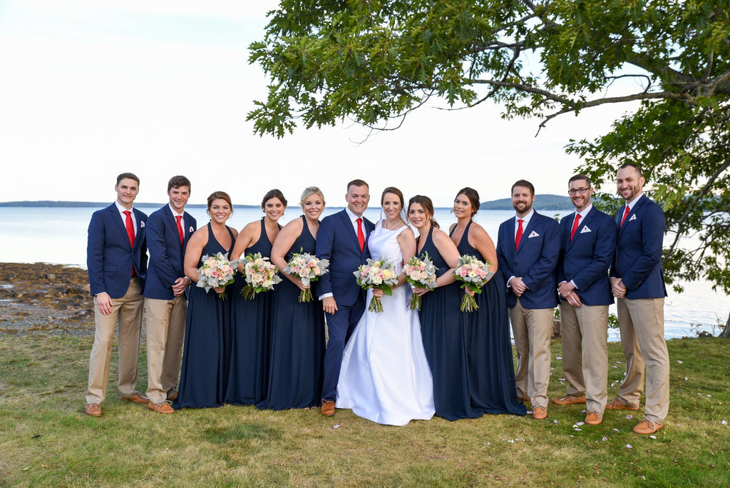 wedding party on the coast of Maine