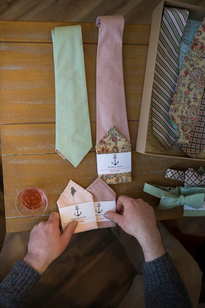 custom made ties and pocket squares from The Maine Square