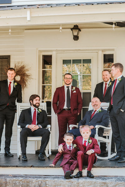 Real Maine Weddings 2018 ties and pocket squares created by Laura Michaud at The Maine Square