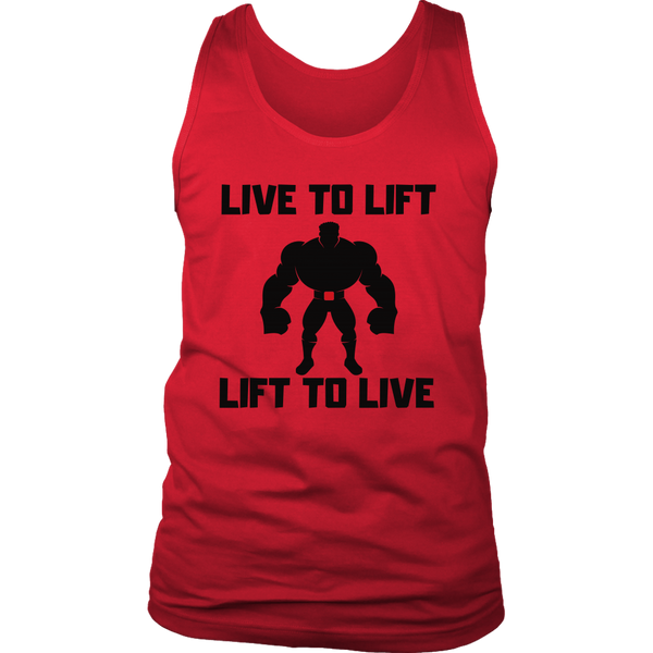 Live To Lift Tank - Hulk