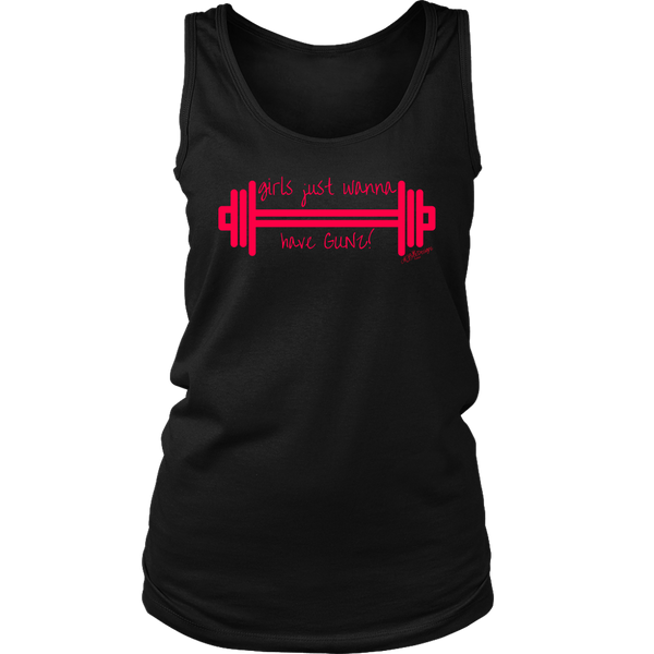 Girls Just Wanna Have Gunz Tank - Black
