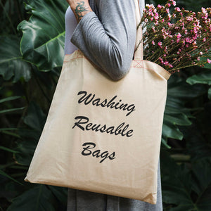 dera design washing reusable bags blog post