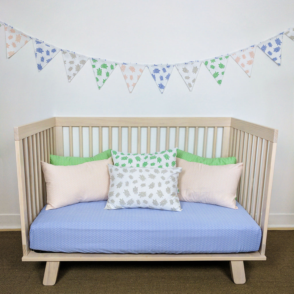 GOTS-Certified Organic Flag Garland/Banner on wall