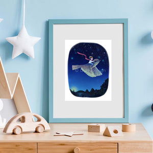 playroom fantasy bird print
