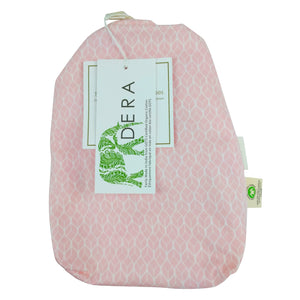 Pink GeoLeaf Fitted Crib Sheet – GOTS-Certified Organic Cotton