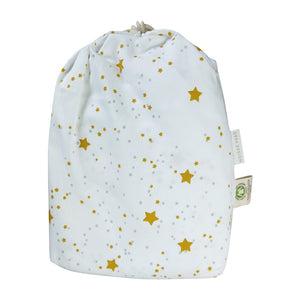 bag for 2 Toddler or Travel Pillowcases, GOTS-Certified Organic Cotton – Stars with Gray dots