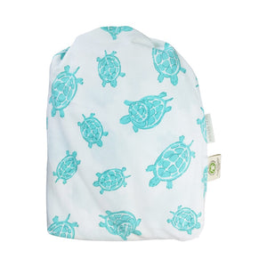 Bag of Changing Pad Cover in Turtle Aqua – GOTS-Certified