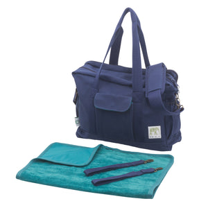 Organic Canvas Diaper Bag in Blue – See Newer Versions