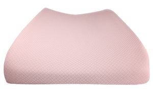Tip view of Shibori Pink Changing Pad Cover – GOTS-Certified Organic Cotton