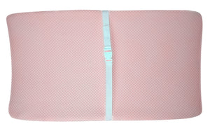 Top view of Shibori Pink Changing Pad Cover – GOTS-Certified Organic Cotton
