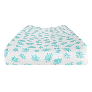 Changing Pad Cover in Turtle Aqua – GOTS-Certified