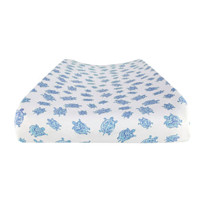Changing Pad Cover in Turtle Blue – GOTS-Certified
