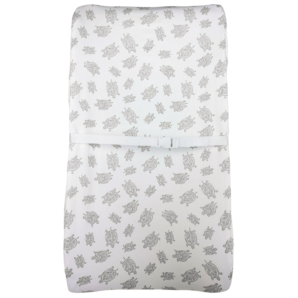 Changing Pad Cover in GOTS-Certified Organic Cotton – Turtle Grey