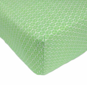 Crib Sheet in GOTS-Certified Organic Cotton – GeoLeaf Green