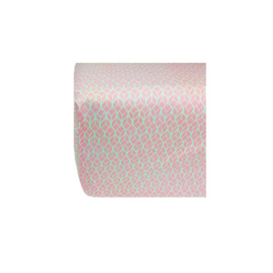 Crib Sheet in GOTS-Certified Organic Cotton – GeoLeaf Pink