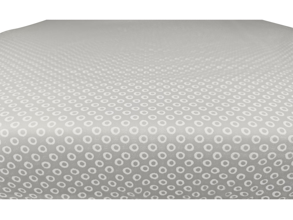 GOTS-Certified Organic Cotton Playard Sheet – Grey Shibori - edge view