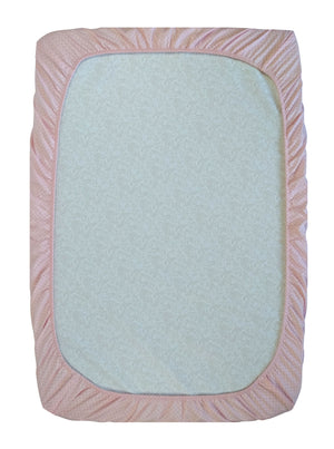 GOTS-Certified Organic Cotton Playard Sheet – Pink Shibori - underside view