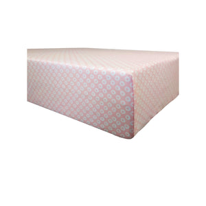 GOTS-Certified Organic Cotton Playard Sheet – Pink Shibori - corner view