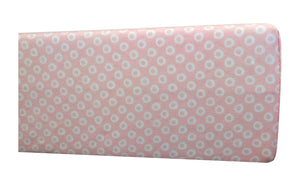 GOTS-Certified Organic Cotton Playard Sheet – Pink Shibori - side view