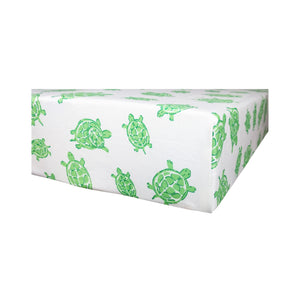 Playard Sheet in GOTS-Certified Organic Cotton – Turtle Green