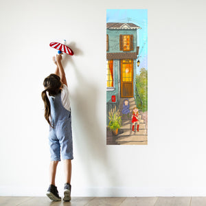 City Stairs Canvas Growth Chart on Fine-Art Canvas