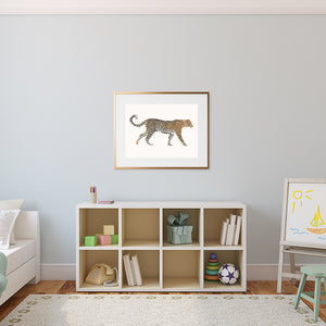 playroom leopard print
