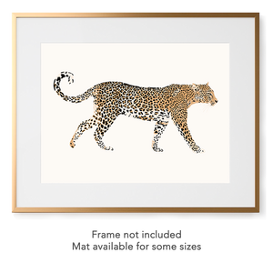 Framed leopard art print