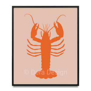 Dera Design Lobster pink bg