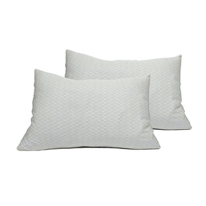 Grey GeoLeaf Pillowcase Pair - GOTS Certified