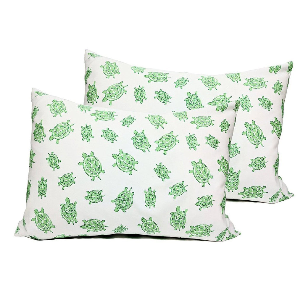 Green Turtles Pillowcase Pair - GOTS Certified