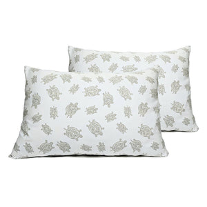 Grey Turtles Pillowcase Pair - GOTS Certified