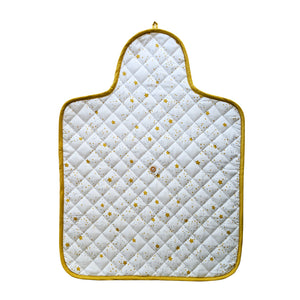 100% Organic Cotton Quilted Changing Pad – Starlight Mustard