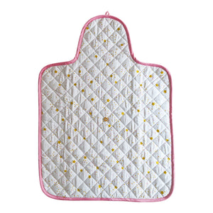 100% Organic Cotton Quilted Changing Pad – Starlight Pink